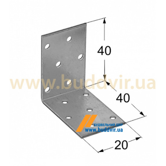 Уголок равносторонний Металвис (Metalvis) 40*40*20*2 мм