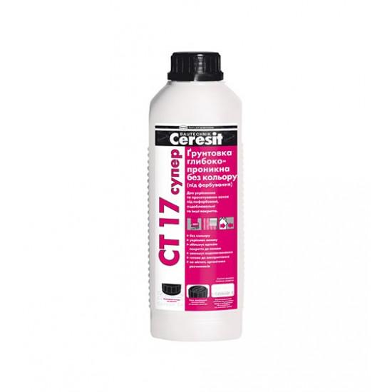 Грунтовка глубокопроникающая Церезит (Ceresit) СТ 17 Супер, 2 л
