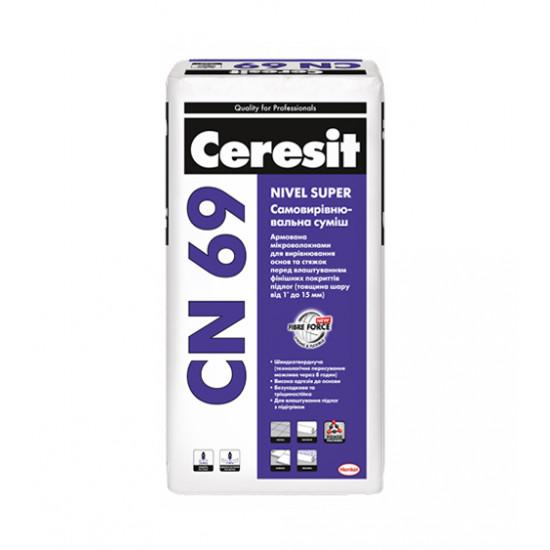 Самовыравнивающаяся смесь Церезит (Ceresit) CN 69, 25кг