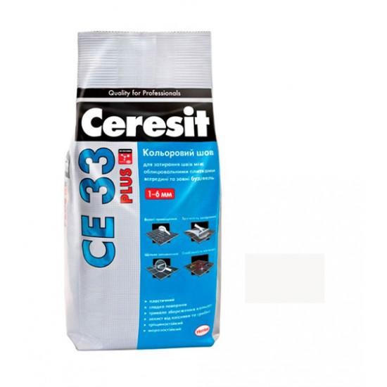 Цветной шов Церезит (Ceresit) СЕ 33 Plus 100 белый, 5 кг