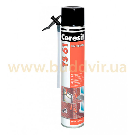 Пена монтажная ручная Церезит (Ceresit) TS61, 500 мл