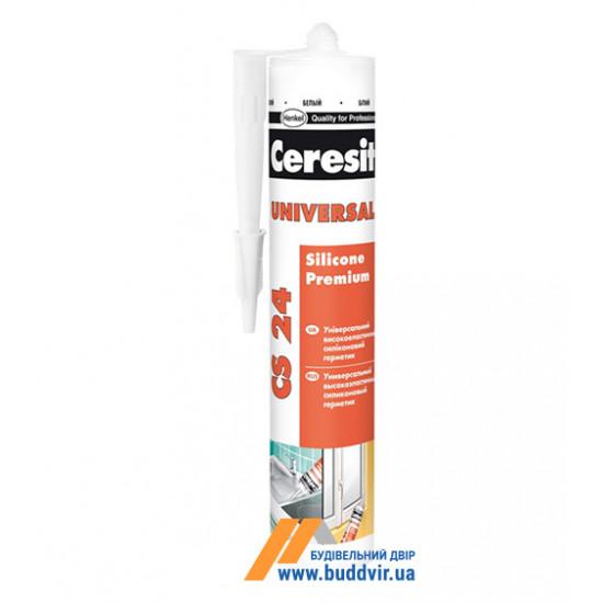 Силиконовый универсальный герметик Церезит (Ceresit) CS24, белый, 280 мл