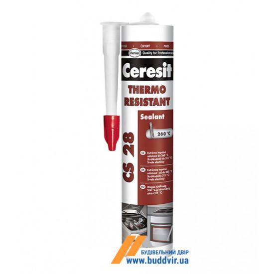 Силиконовый термостойкий герметик Церезит (Ceresit) CS28, 300мл