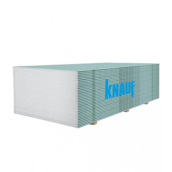 Гипсокартон влагостойкий Кнауф (Knauf) ГКПВ 12,5х1200х3000 мм
