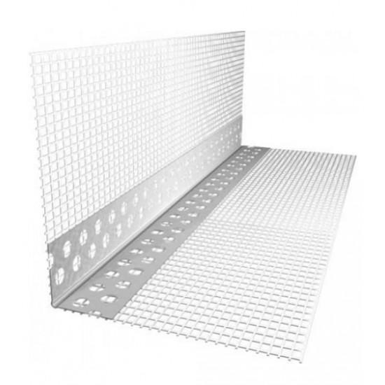 Уголок пластиковый перфорированный с сеткой Премиум, 7*7, 3 м