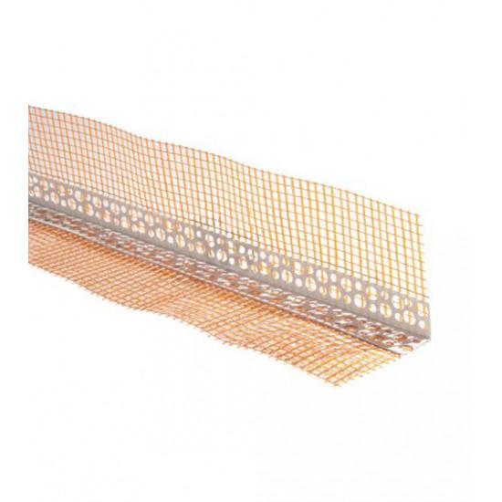 Уголок пластиковый перфорированный с сеткой 10*15 мм, 3 м