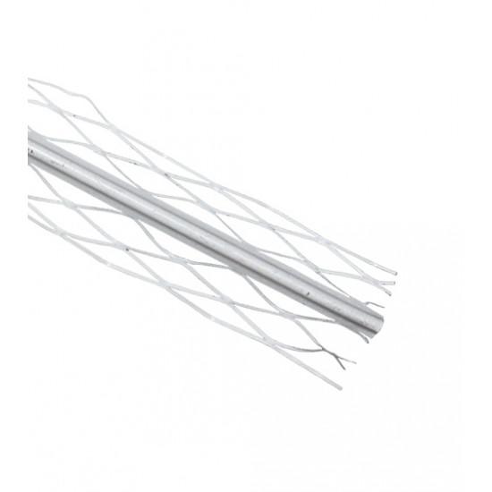 Уголок для мокрой штукатурки окрашенный (белый), 2,5 м