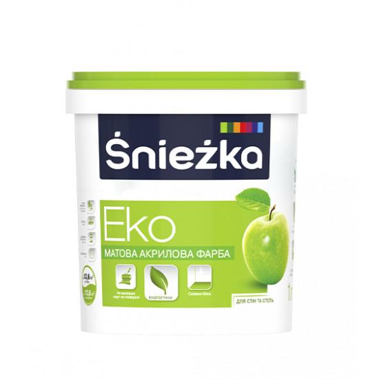Интерьерная акриловая краска матовая Снежка (Sniezka) ЕКО, 1,4 кг