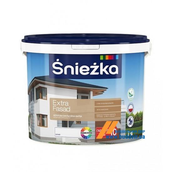 Фасадная акриловая краска Снєжка (Sniezka) Экстра Фасад, 7 кг