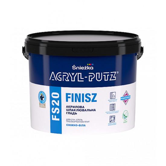 Шпаклевочная гладь Снежка (Sniezka) ACRYL-PUTZ FS20 финиш, 8 кг