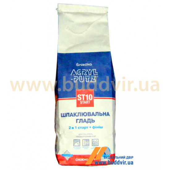 Шпаклевочная гладь Снежка (Sniezka) ACRYL-PUTZ старт+финиш, 2 кг