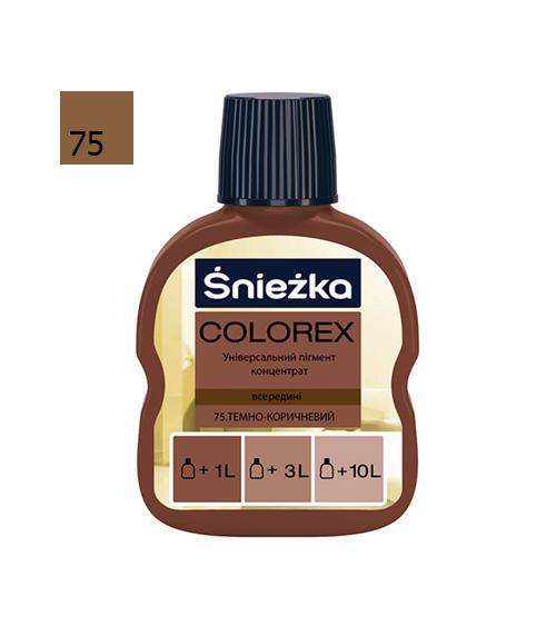 Барвник Sniezka Colorex 0,10л., 75 коричневий темний