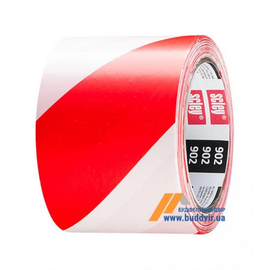 Лента сигнальная Хардекс (Hardy) красно-белая, 75мм*100м