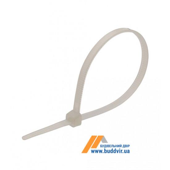 Кабельная стяжка Technics белая, 2,5*100 мм (100 шт)