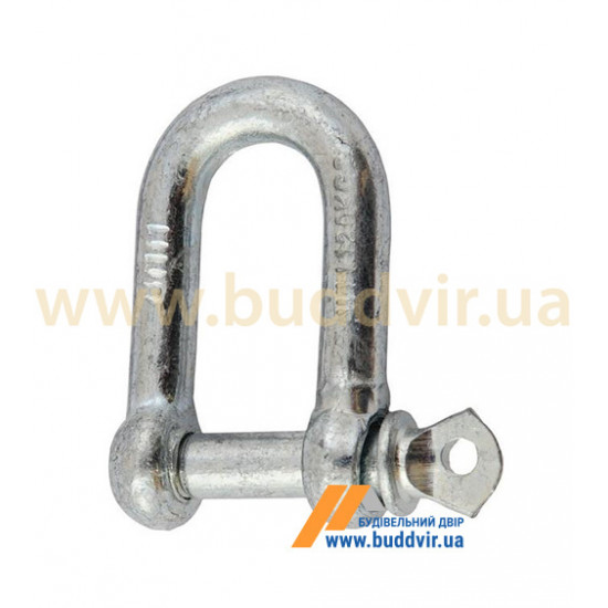 Карабин U-образный Металвис (Metalvis) цинк белый, 8 мм