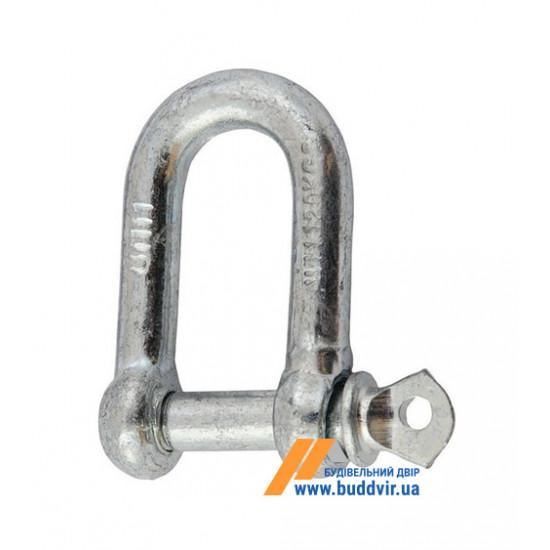 Карабин U-образный Металвис (Metalvis) цинк белый, 12 мм