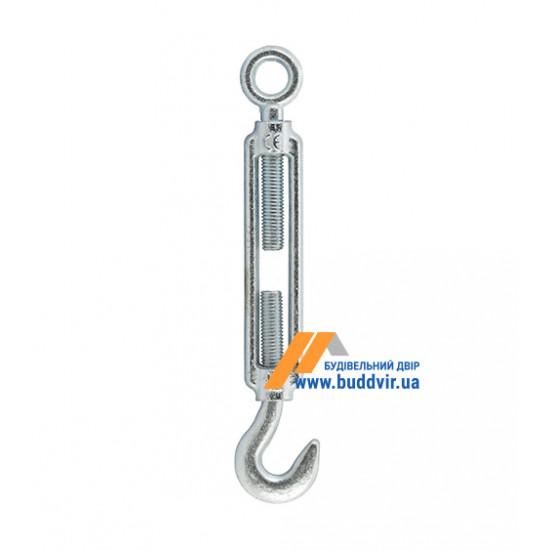 Захват (талреп) крюк/кольцо Металвис (Metalvis) цинк белый, 8*110 мм