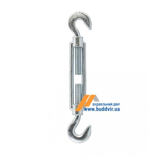 Захват (талреп) крюк/крюк Металвис (Metalvis) цинк белый, 8*110 мм