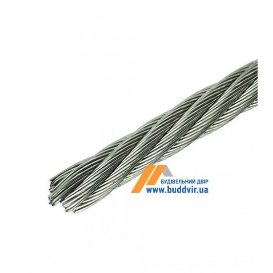 Трос 6х19+1FC Металвис (Metalvis) цинк белый, 6 мм (1 м)
