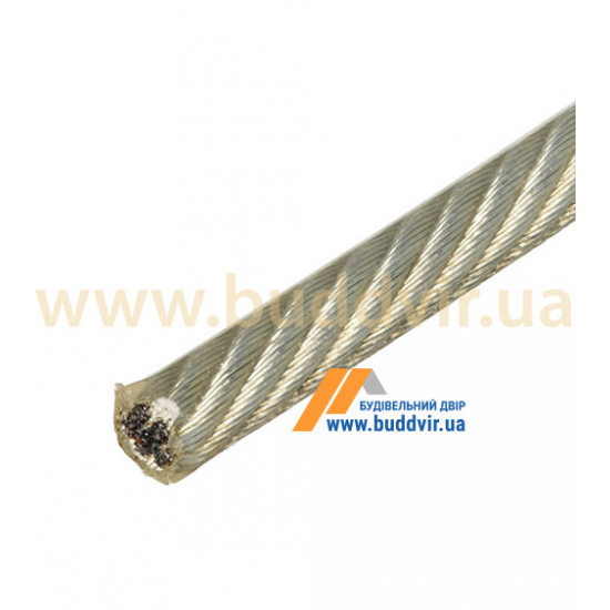 Трос 6х7+1FC Металвис (Metalvis) ПВХ прозрачный, 2/3 мм (1 м)