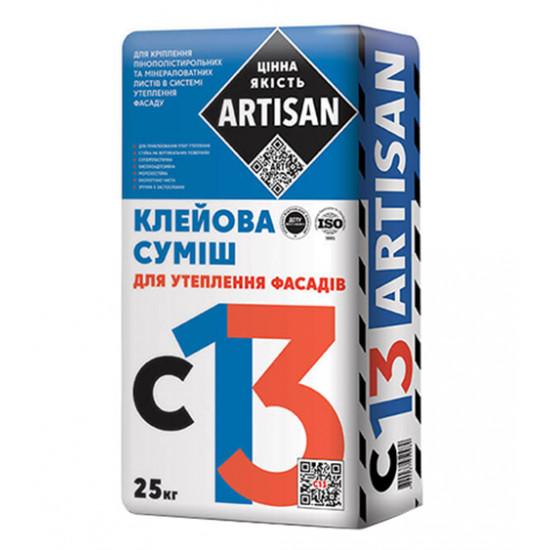 Клеевая смесь для приклеивания МВ и ППС плит Артисан (Artisan) С-13, 25 кг