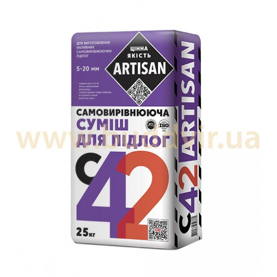 Самовыравнивающаяся смесь Артисан (Artisan) С-42, 25 кг