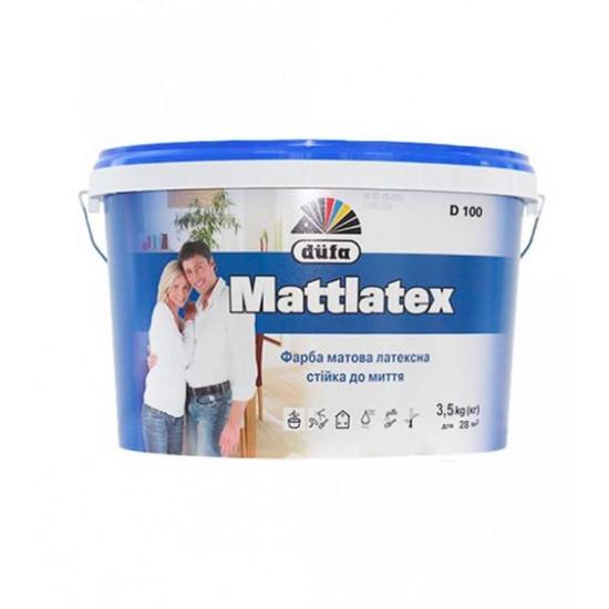 Интерьерная латексная матовая краска Дюфа (Dufa) Mattlatex D100, 3,5 кг