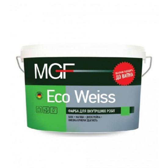 Интерьерная акриловая краска матовая МГФ (MGF) Eco Weiss М1 14 кг