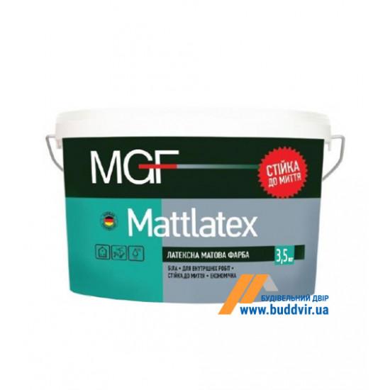 Интерьерная латексная краска матовая МГФ (MGF) М100 3,5 кг
