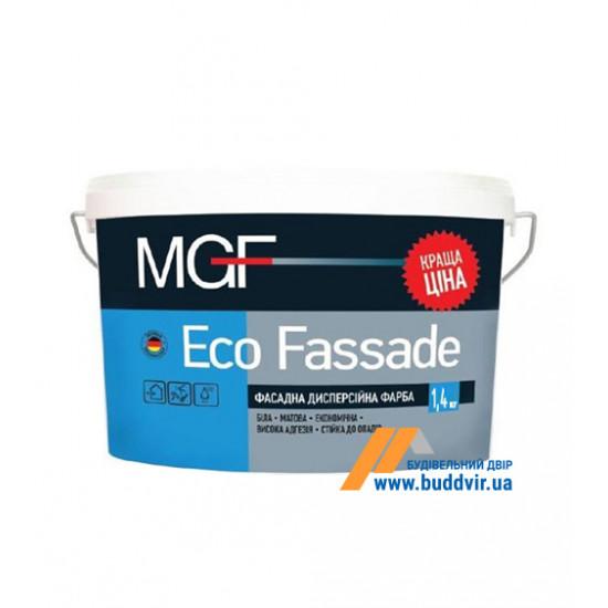 Фасадная акриловая краска матовая МГФ (MGF) EKO Fassade M690 1,4 кг