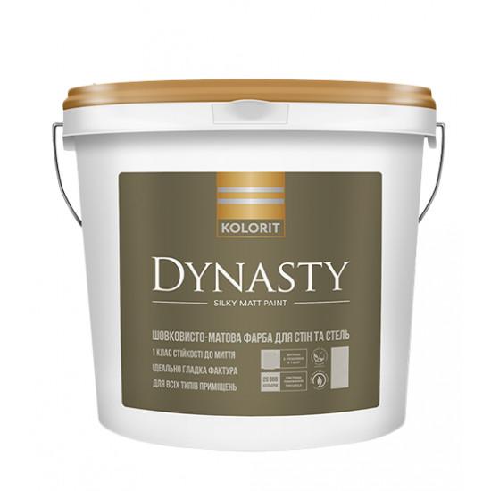 Интерьерная акриловая краска матовая Колорит (Kolorit) Dynasty (Premium 7), 4,5 л