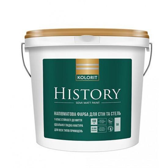 Интерьерная акриловая краска полуматовая Колорит (Kolorit) History, 4,5 л
