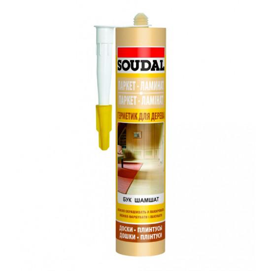 Акриловый герметик Соудал (Soudal) для паркета, бук, 300мл