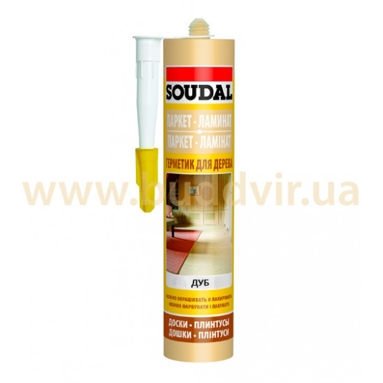 Акриловый герметик Соудал (Soudal) для паркета, дуб, 300мл