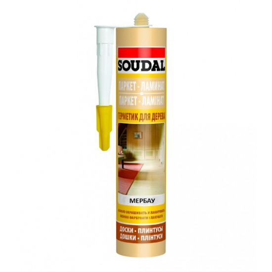 Акриловый герметик Соудал (Soudal) для паркета, мербау, 300мл