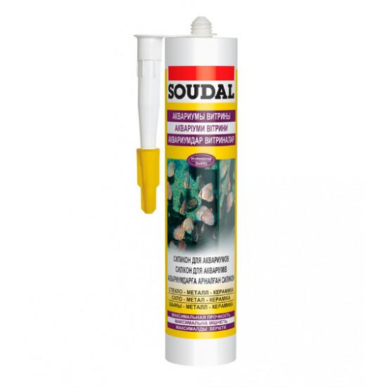 Силиконовый герметик Соудал (Soudal) для аквариумов Silirub AQ, черный, 310 мл