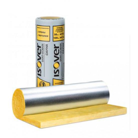 Минеральная вата Изовер (ISOVER) Сауна, 50х1200х12500 мм (15 м.кв)