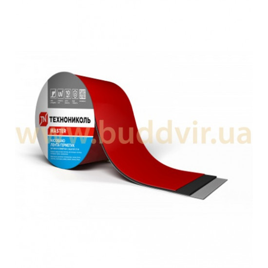 Лента самоклеящаяся герметизирующая ТЕХНОНИКОЛЬ (TEHNONIKOL) NICOBAND красный, 7,5 см х 3 м