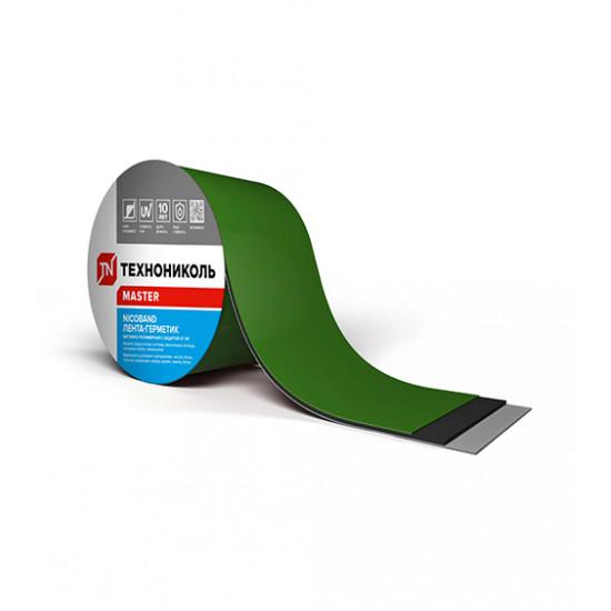 Лента самоклеящаяся герметизирующая ТЕХНОНИКОЛЬ (TEHNONIKOL) NICOBAND зеленый, 10 см х 3 м