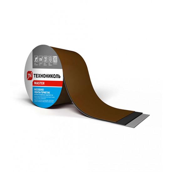 Лента самоклеящаяся герметизирующая ТЕХНОНИКОЛЬ (TEHNONIKOL) NICOBAND коричневый, 10 см х 3 м