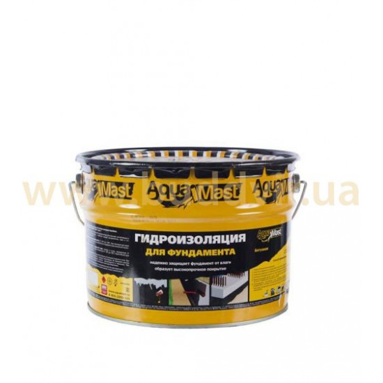 Мастика битумная для фундамента АкваМаст (AquaMast), 3 кг
