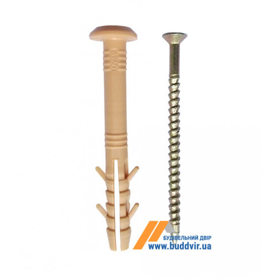 Дюбель Премиум быстрого монтажа 6*40 мм, гриб (100 шт)