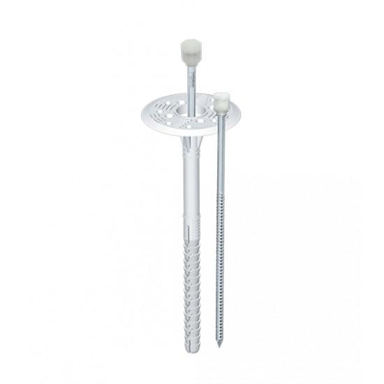 Дюбель термоизоляционный с металлическим гвоздем и термоголовой, 10*160 мм (50 шт)