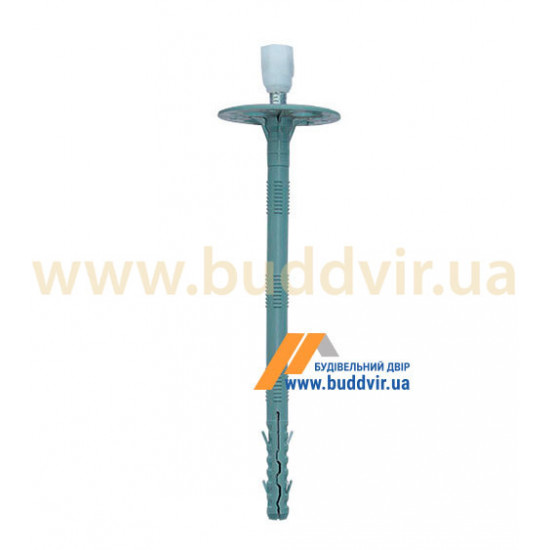 Дюбель термоизоляционный с металлическим гвоздем и термоголовой, 10*240 мм (25 шт)
