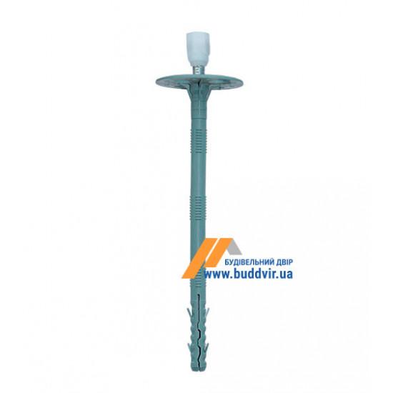 Дюбель термоизоляционный с металлическим гвоздем и термоголовой, 10*240 мм (50 шт)