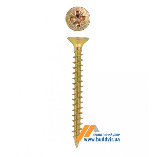 Шуруп универсальный Металвис (Metalvis), цинк желтый, 3,5*55 мм (500 шт)