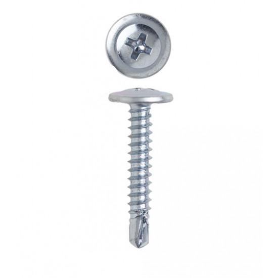Саморез по металлу с пресс-шайбой и буром 4,2х13 мм (200 шт)
