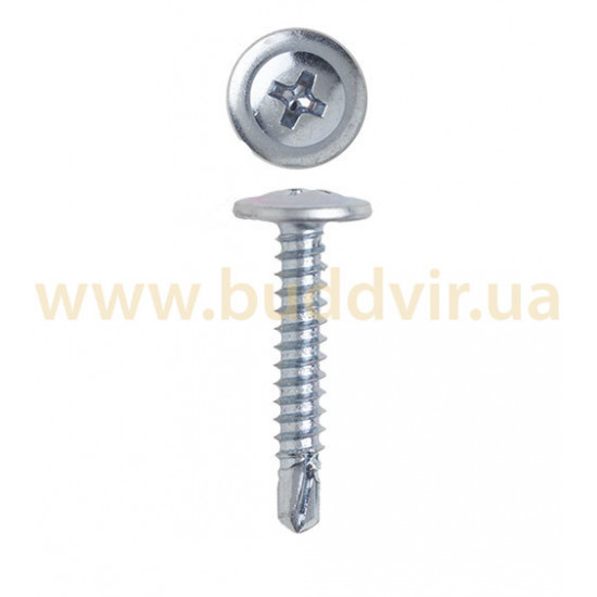 Саморез по металлу с пресс-шайбой и буром 4,2х25 мм (1000 шт)