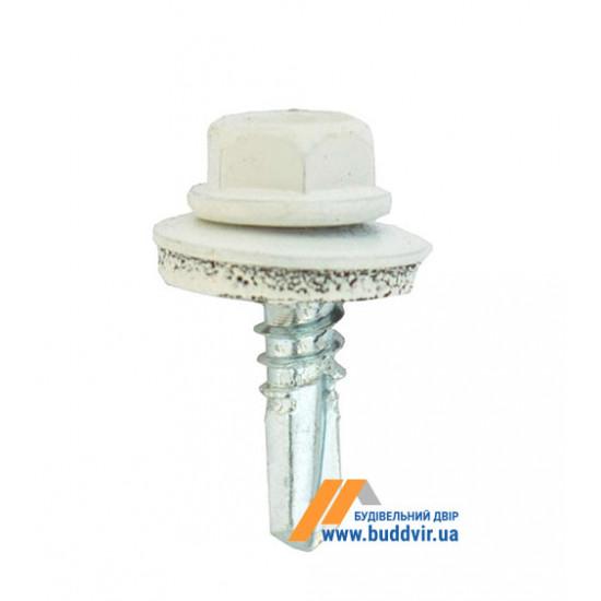 Винт кровельный по металлу, RAL 9010 белый, 4,8*19 мм (1 шт)