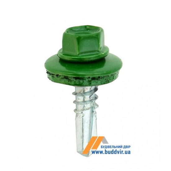 Винт кровельный по металлу, RAL 6005 насыщенный зеленый, 5,5*25 мм (1 шт)